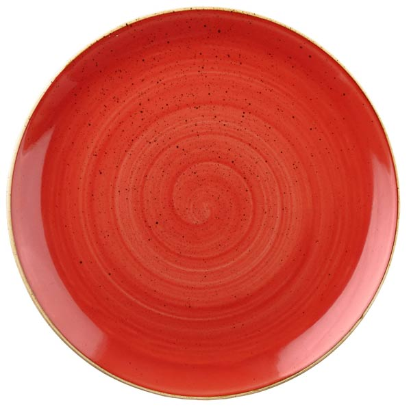 STONECAST BERRY RED - ASSIETTE RONDE 28.8 CM