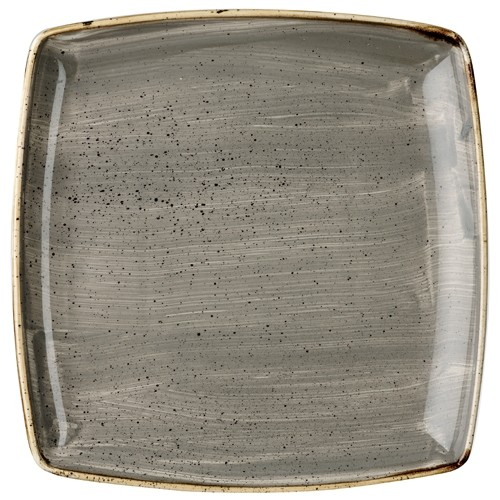 STONECAST PEPPERCORN GREY - SQUARE PLATE 26.8 CM