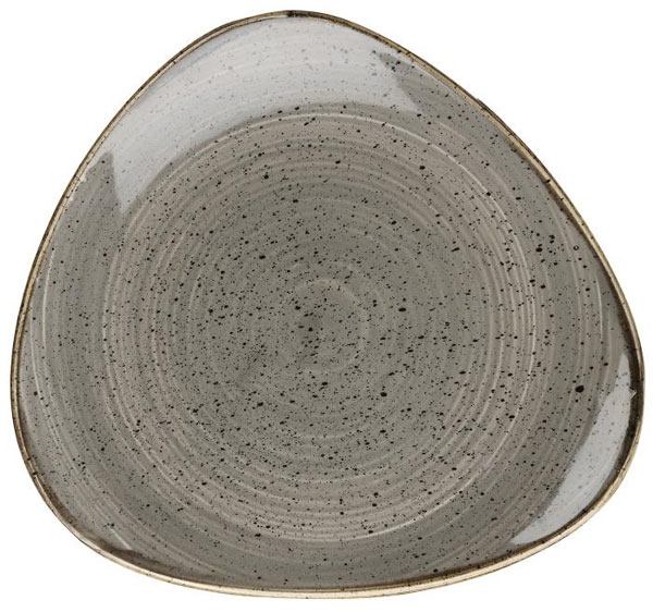 STONECAST PEPPERCORN GREY - TRIANGLE PLATE 31.1 CM
