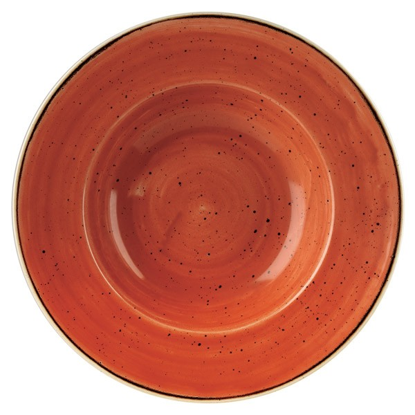 STONECAST SPICED ORANGE - ASSIETTE CREUSE RONDE 28 CM