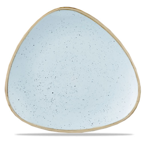 STONECAST DUCK EGG BLUE - TRIANGLE PLATE 31.1 CM